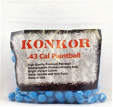 Konkor .43 Caliber Paintballs 250 Ct Blue